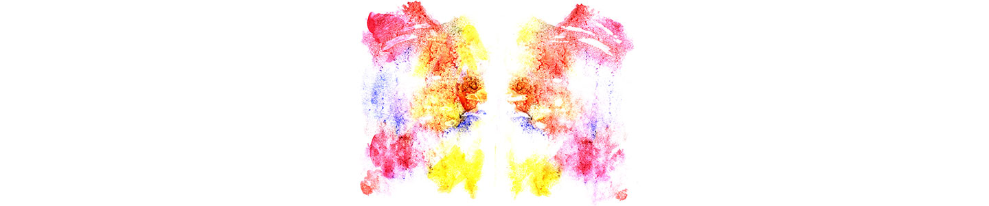 Rorschach Inkblot In Delicate Colours