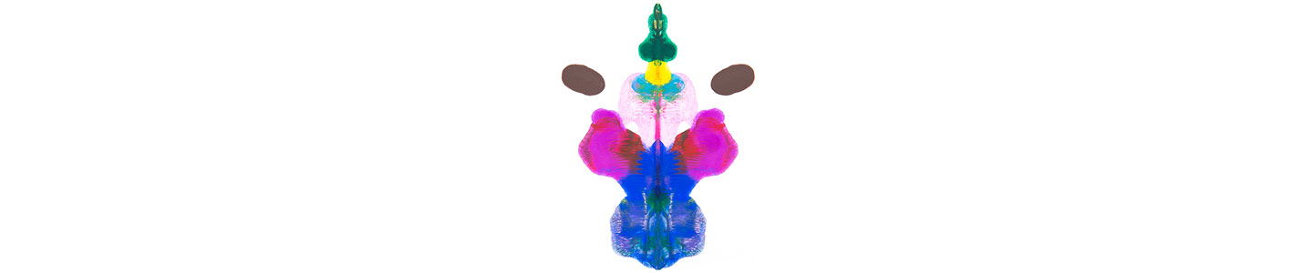 Rorschach Inkblot In Different Colours 2