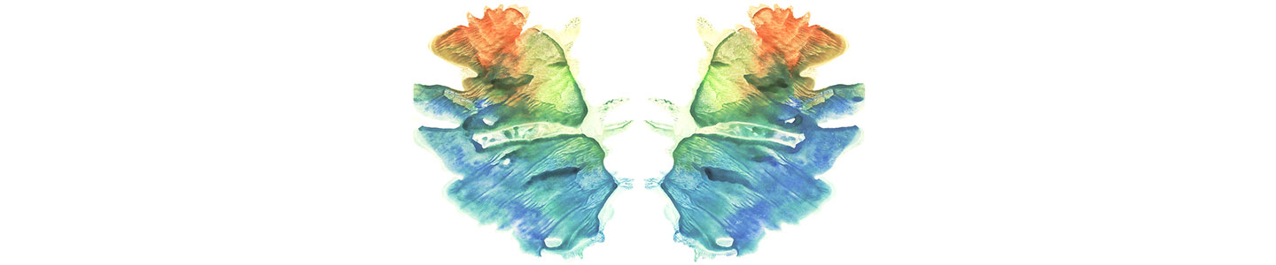 Rorschach Inkblot In Different Colours