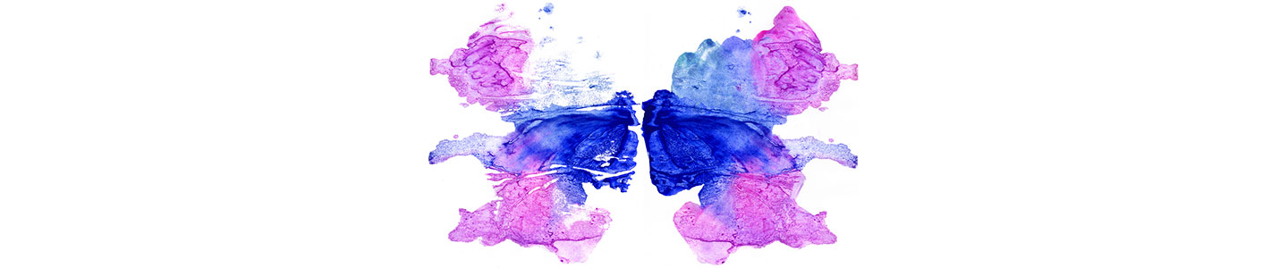 Rorschach Inkblot In Purple